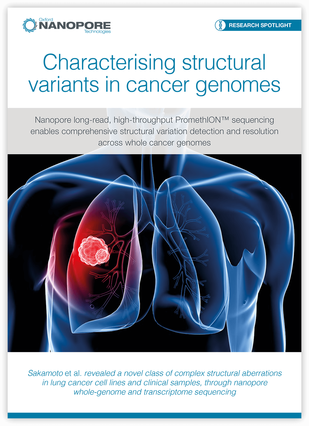 Characterising structural variants in cancer genomes