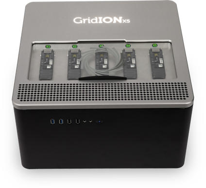 GridION X5 sequencing device with 5 flow cells