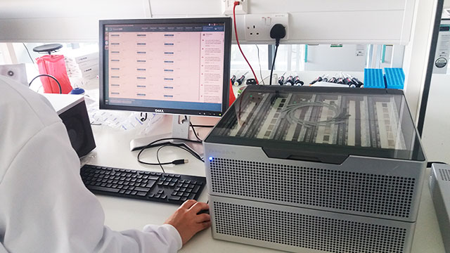 PromethION sequencing DNA in the lab