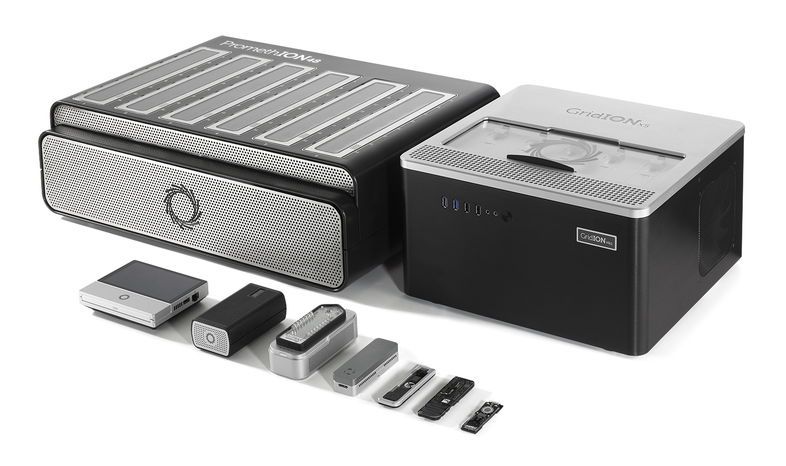Groupt photo of all nanopore sequencing devices